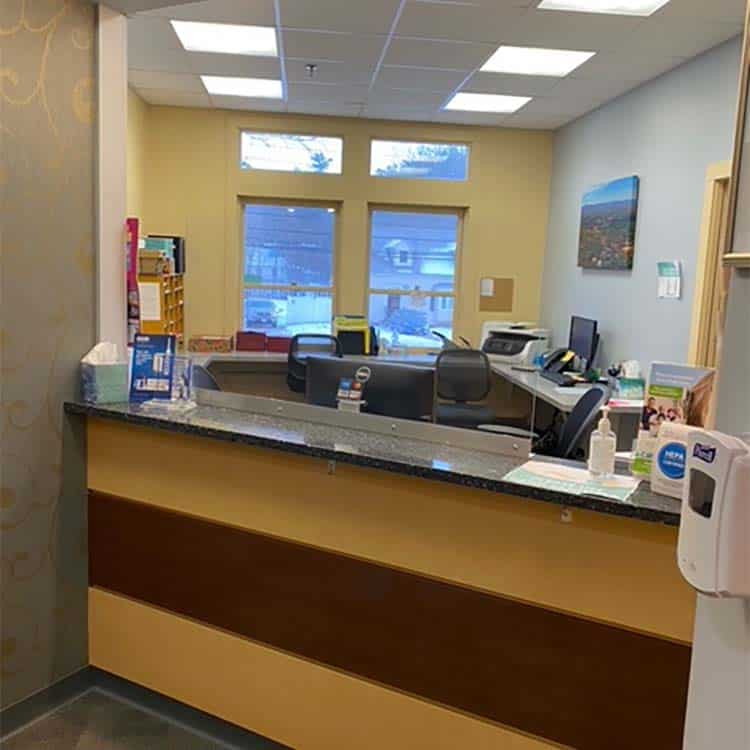 Reception Desk 2 - Townsend Dental Group